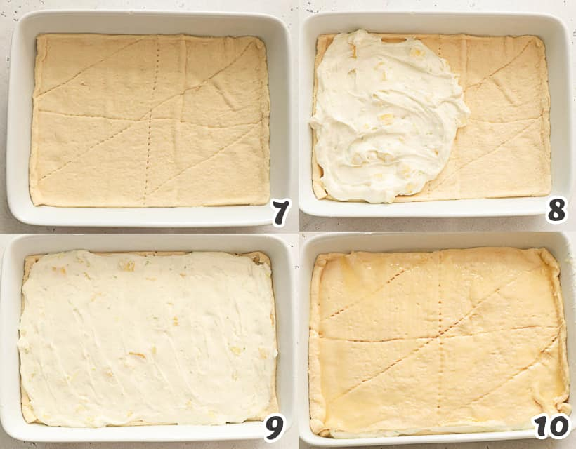 how to layer sopapilla cheesecake