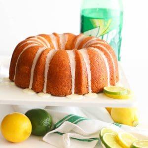 7UP Pound Cake with Lemons