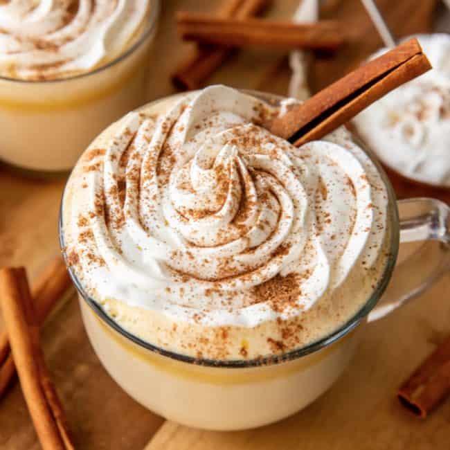 Pumpkin Spice Latte w/cinnamon stick