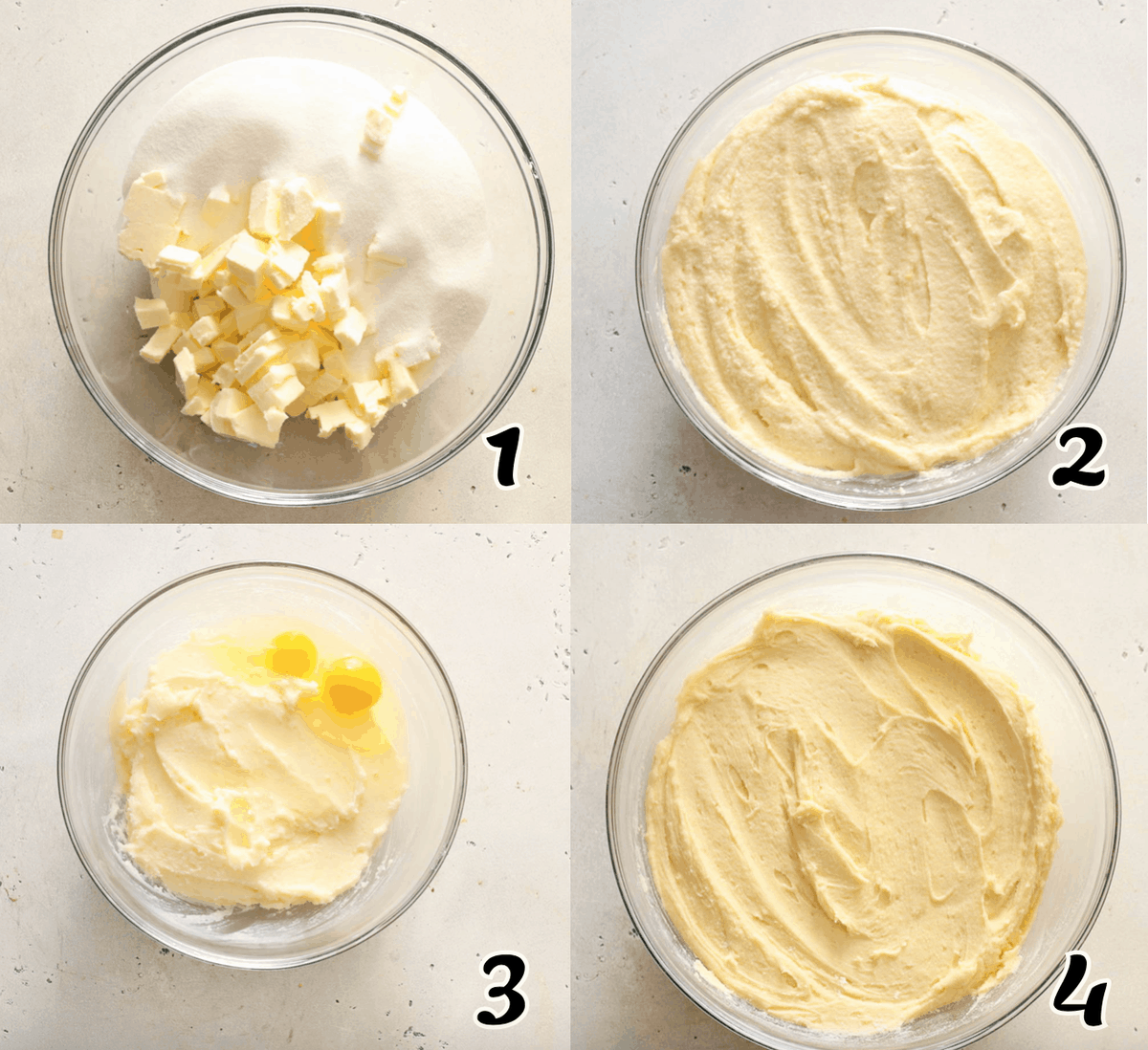 7UP Pound Cake Instructions 1-4