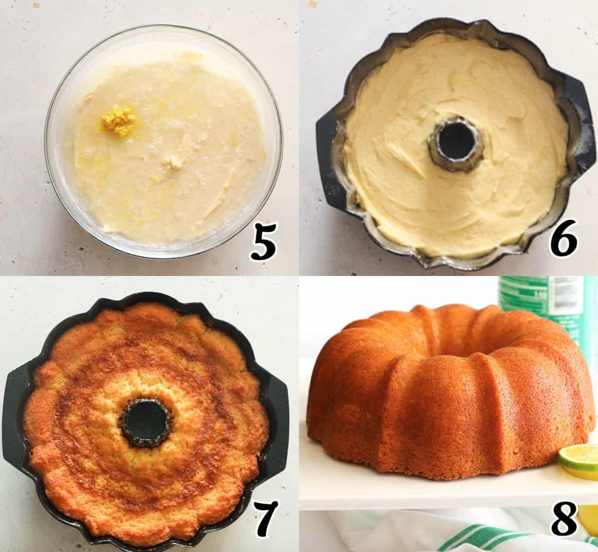 7UP Pound Cake Instructions 5-8