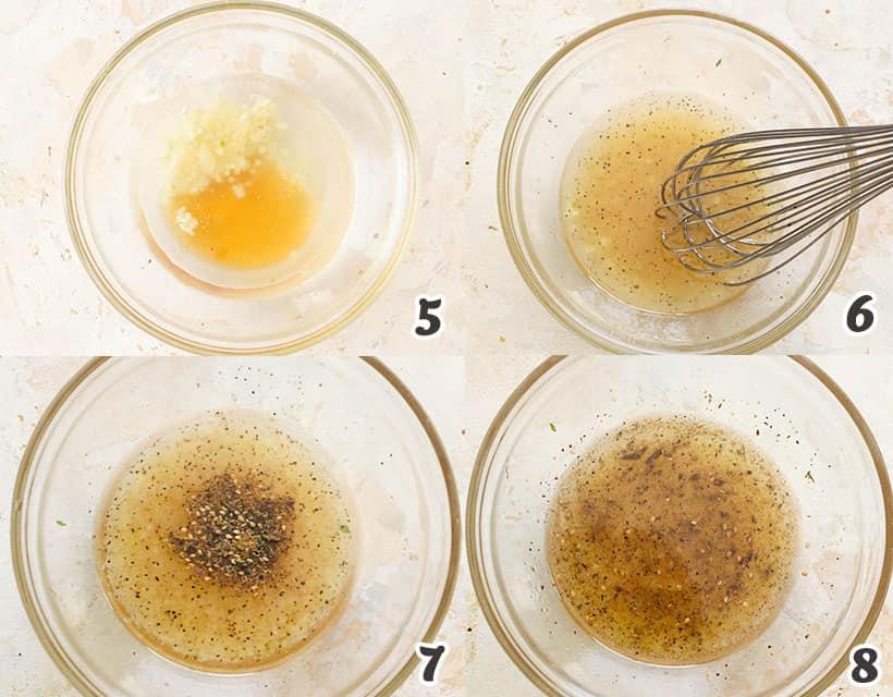 Making the Herbed Vinaigrette