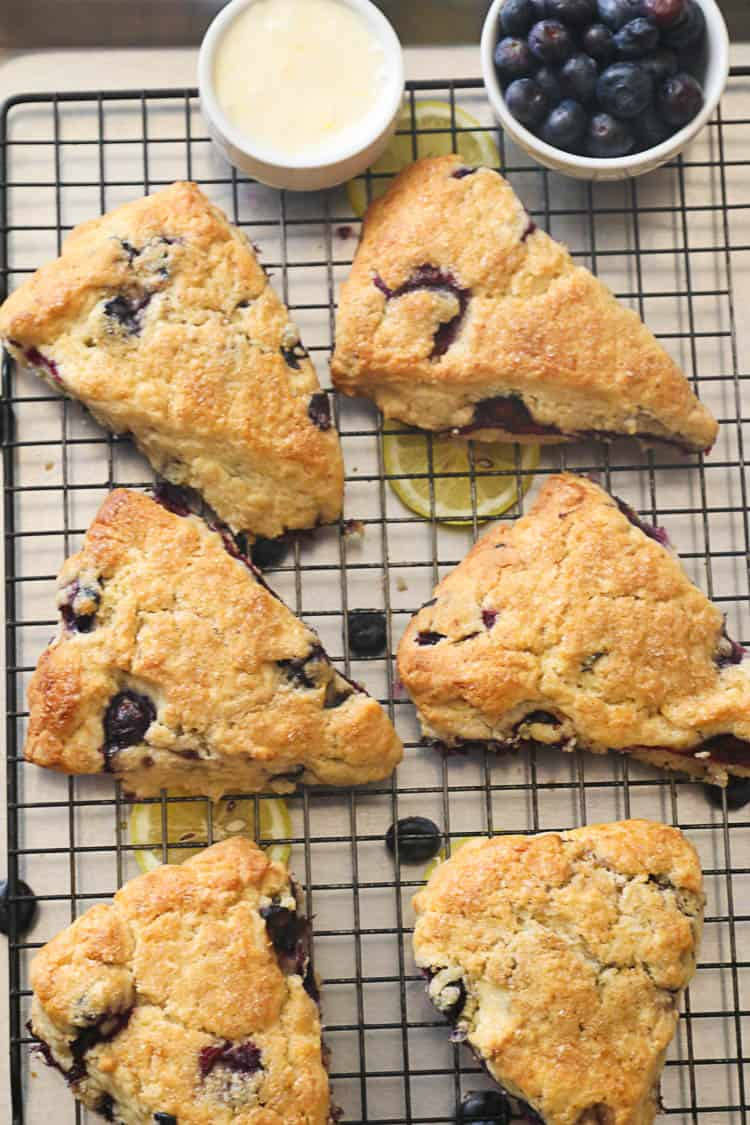 Lemon Blueberry Scones in a pan