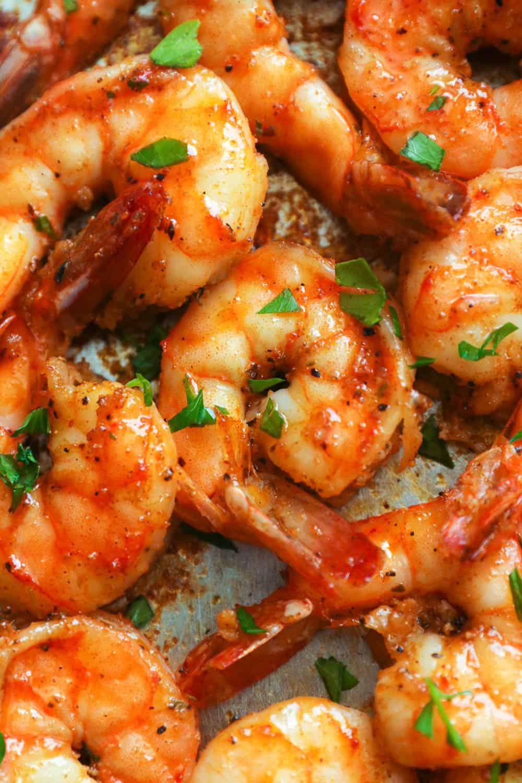 Oven baked cajun shrimp