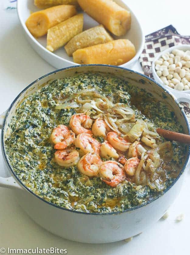 Ndole with Shrimp
