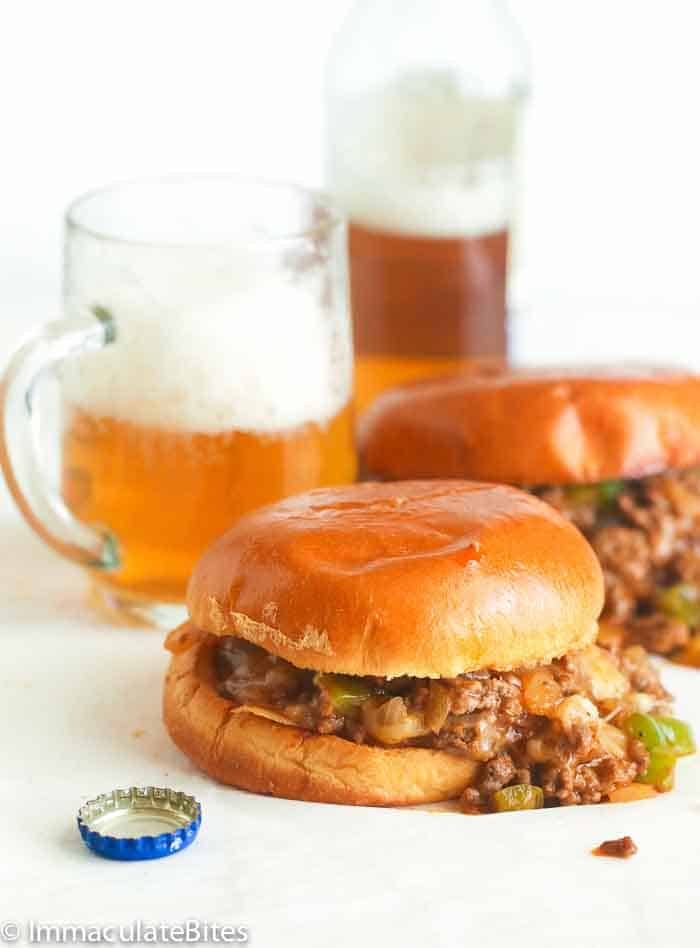 Sloppy Joes with beer