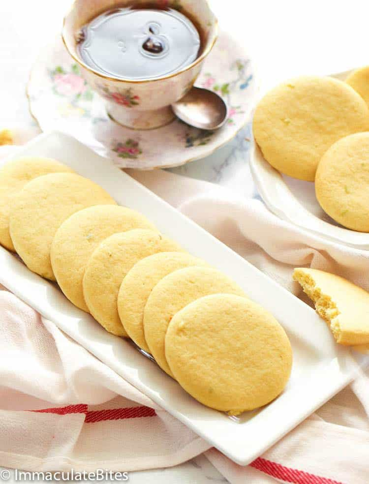 Southern Tea Cakes on White Plate