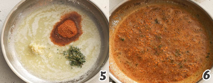 Making the Creole butter sauce