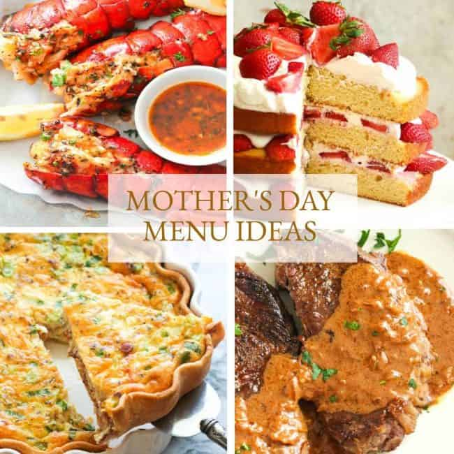 Mother's Day Menu Collage