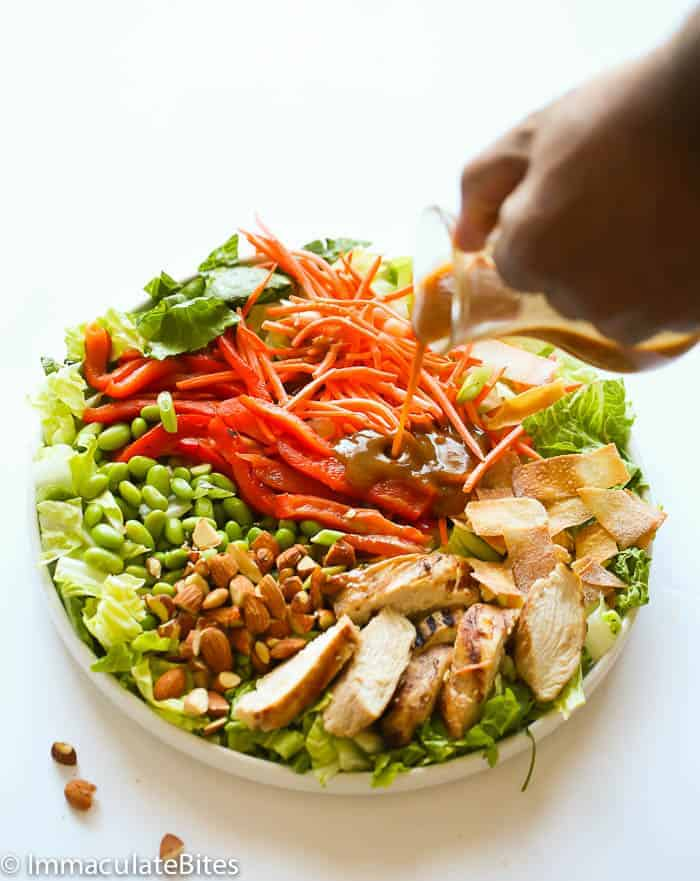 Thai Chopped Chicken Salad with a Peanut Dressing
