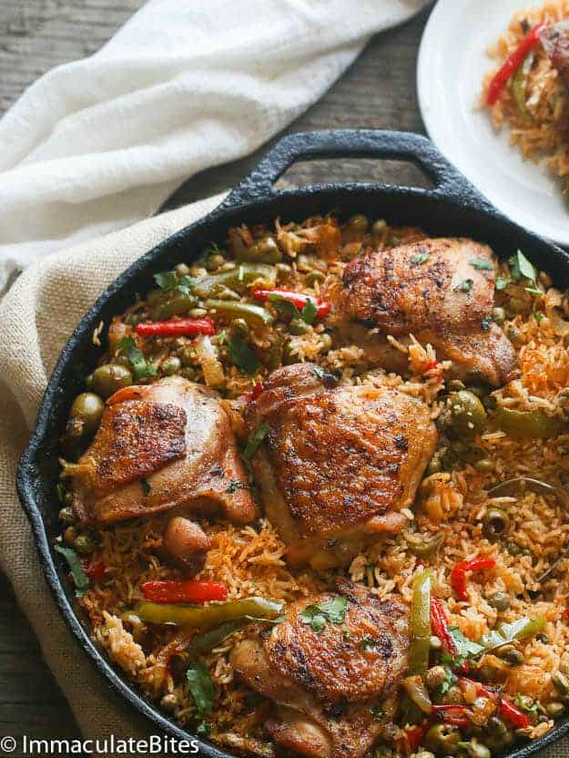 One-pot Puerto Rican Chicken and Rice