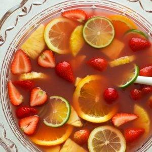 Jungle Juice in a Fruit Bowl