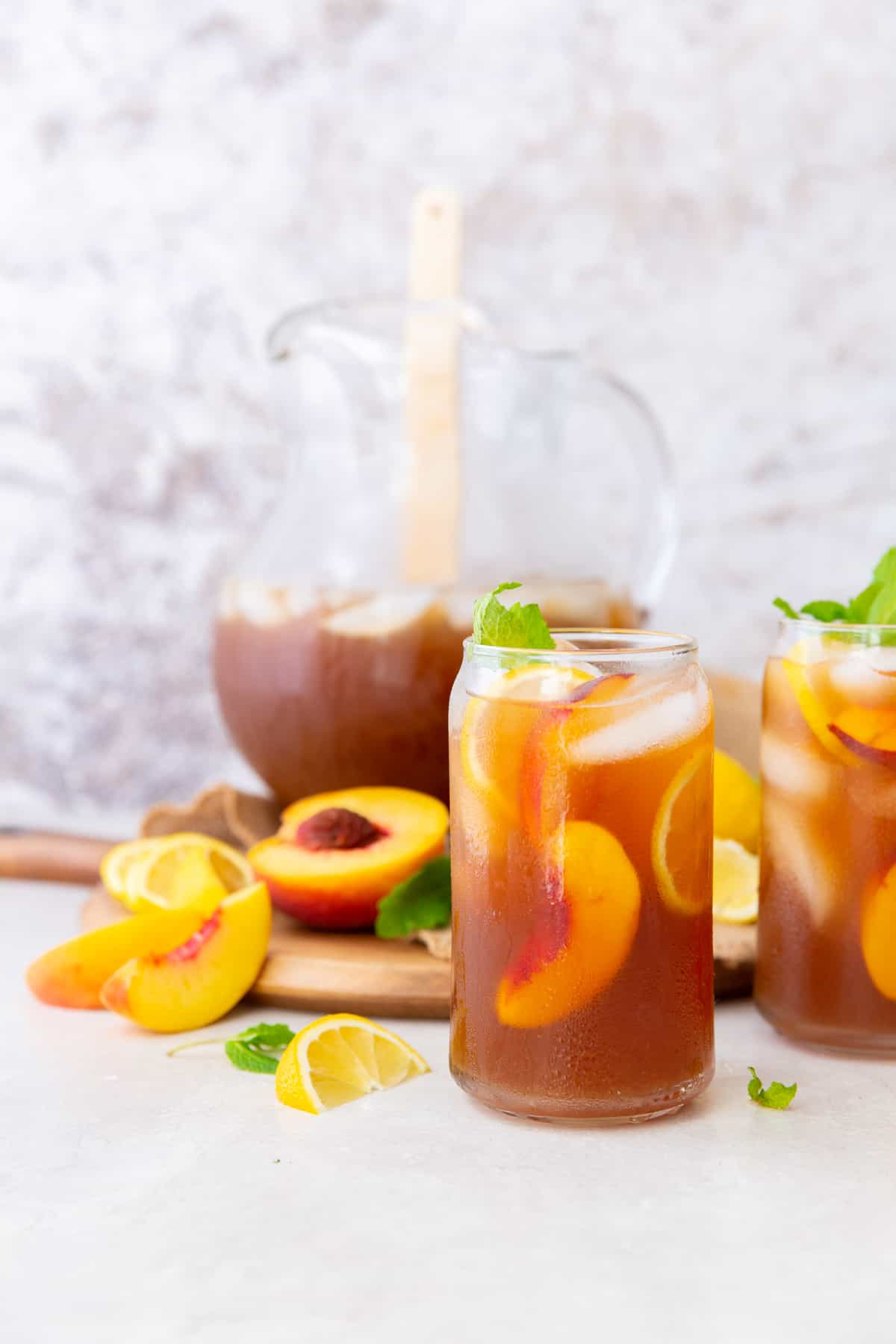 Peach Tea with Pitcher