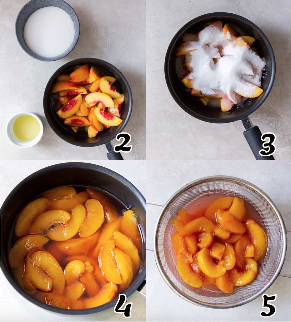 Making the Peach Syrup