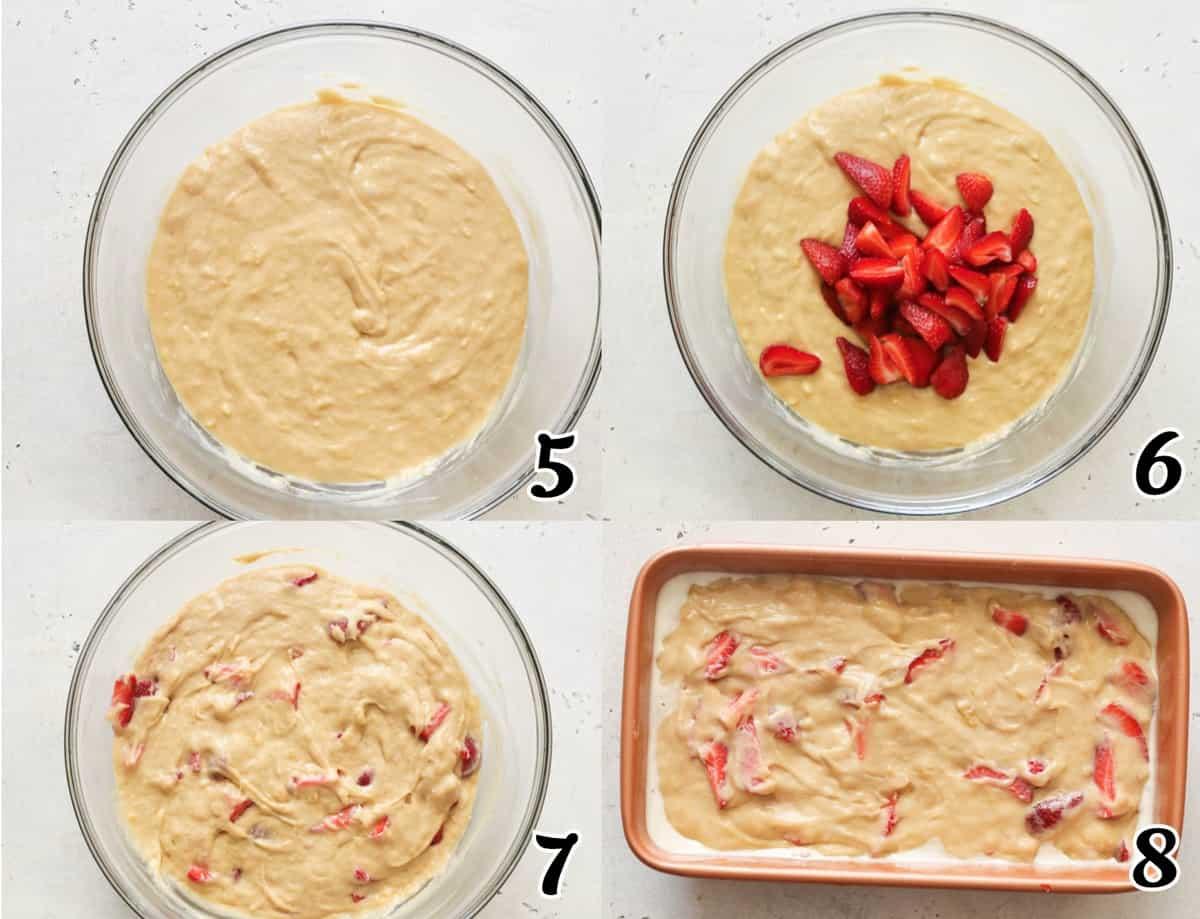 Strawberry Banana Bread Steps 5-8