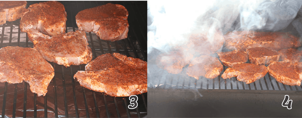smoking the pork chops