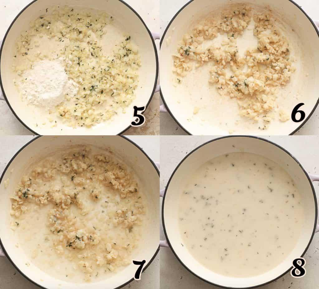Chicken Lasagan Instructins 5-8