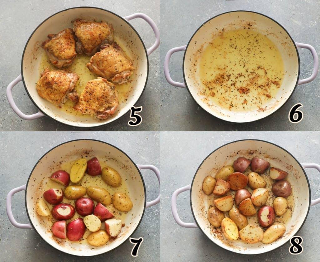 Chicken Vesuvio Steps 5-8