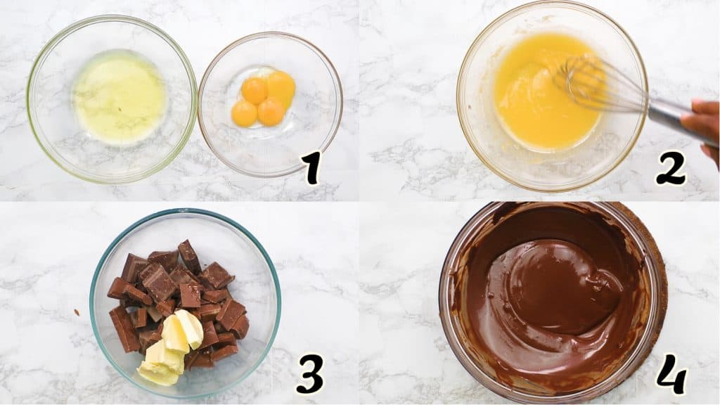 Chocolate Mousse Instructions 1-4