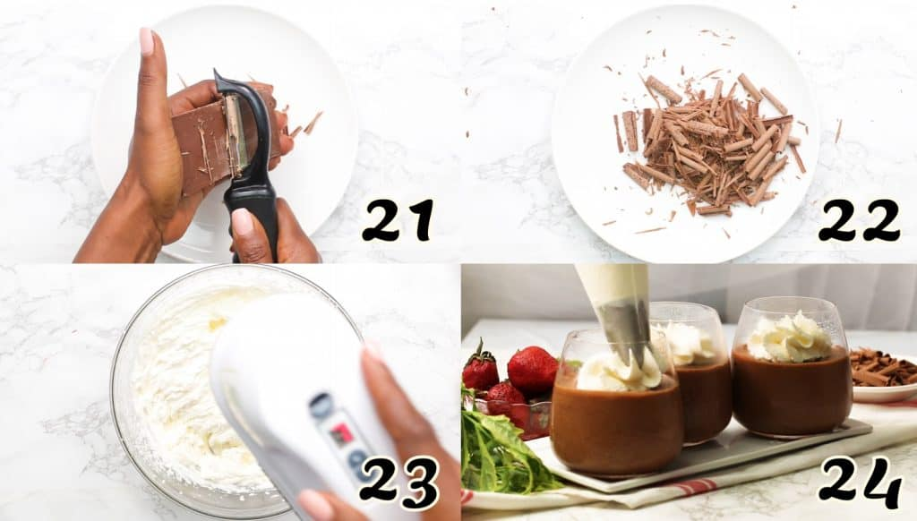 Chocolate Mousse Instructions 21-24