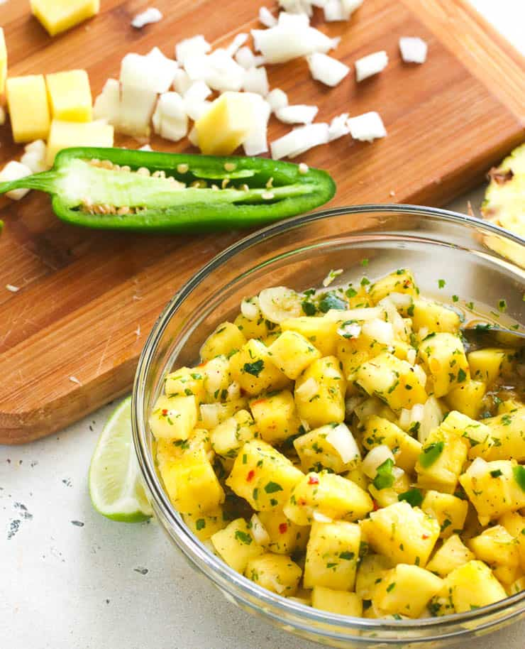 Pineapple Salsa with Jalapenos