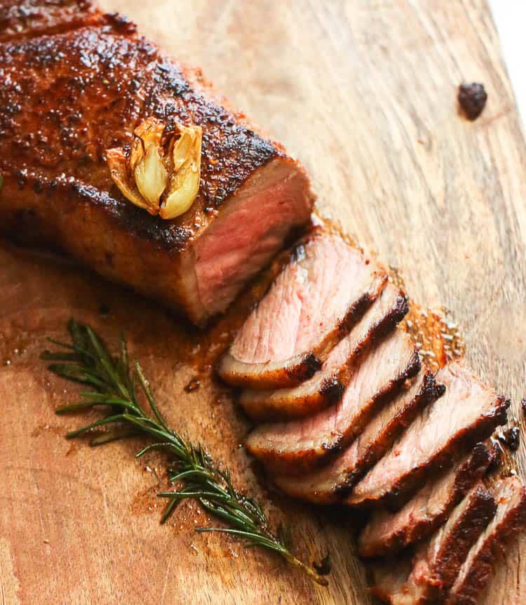 Pan seared oven roasted steak