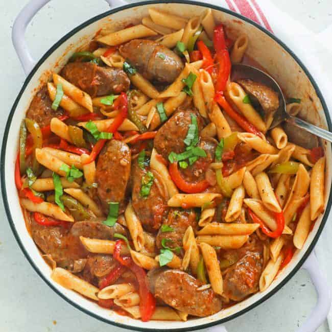 Sausage and Pasta in a Pan