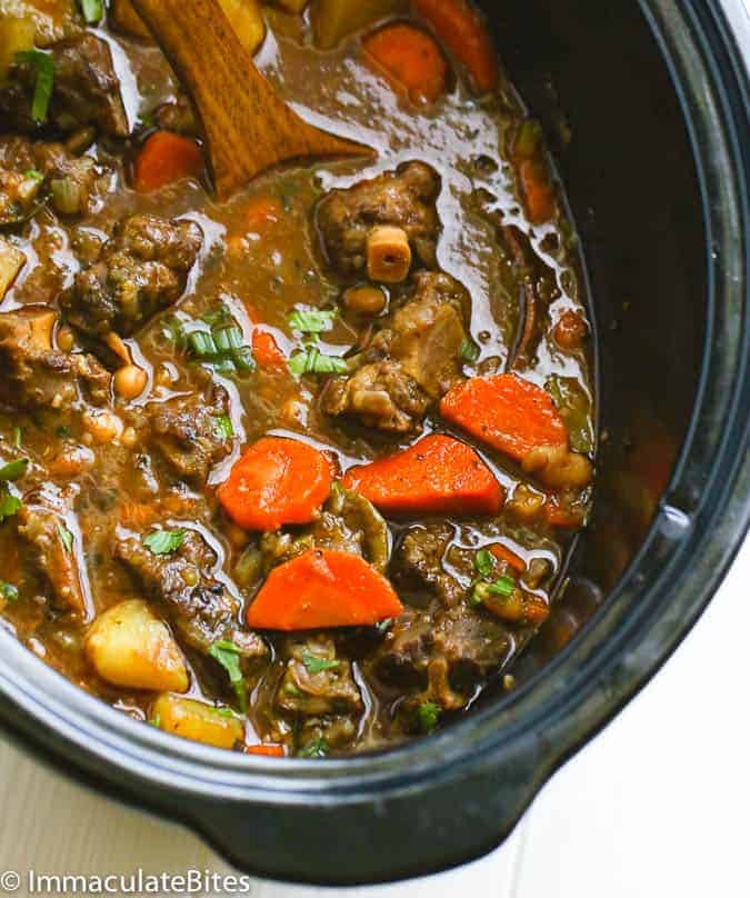 Rich and scrumptious oxtail soup