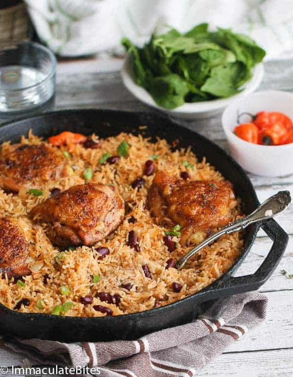One Pot Caribbean Rice and beans