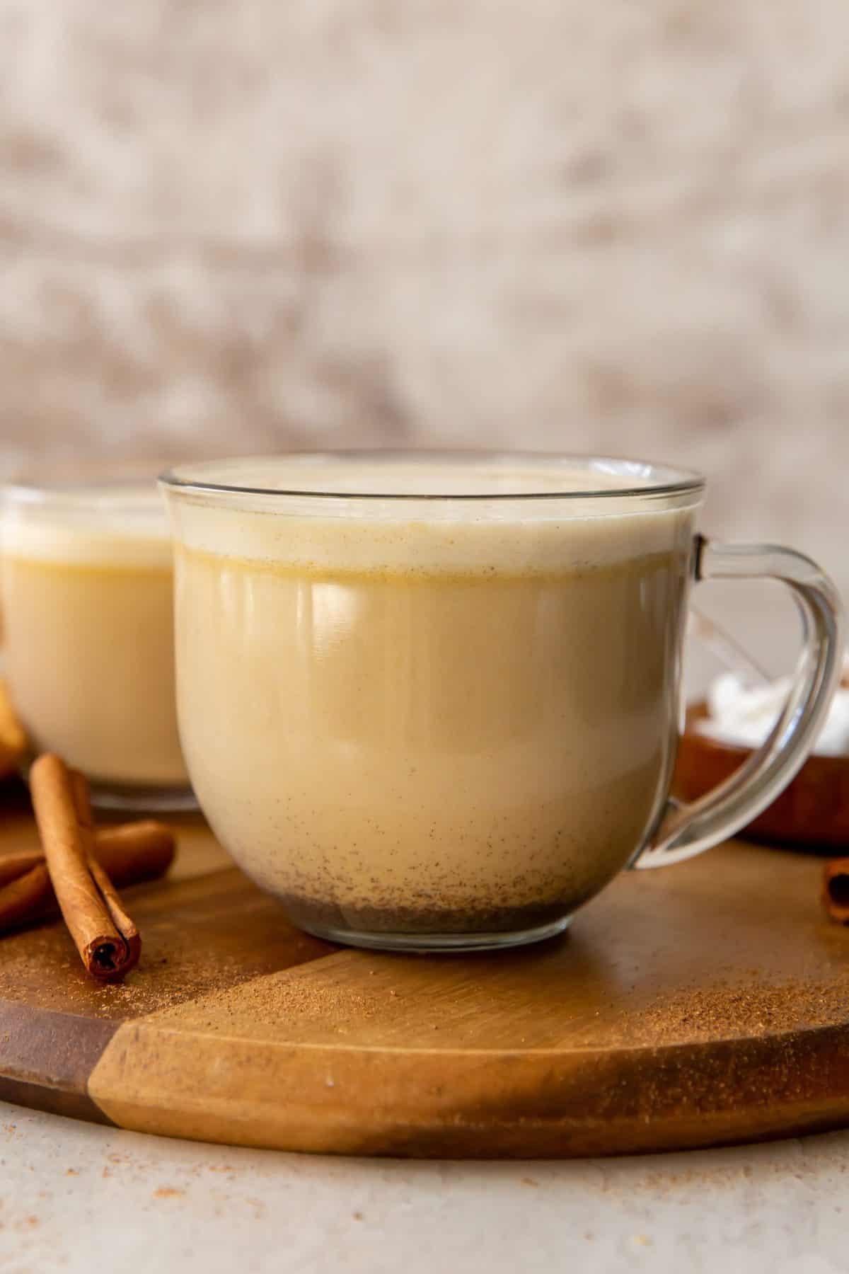 Pumpkin Spice Latte in a Clear Cup