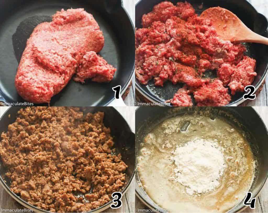 Sausage Gravy Instructions 1-4