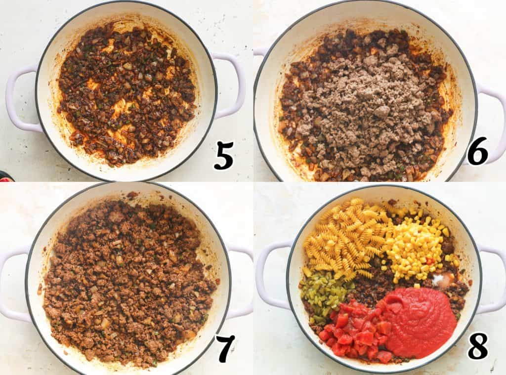 Taco Pasta Steps 5-8