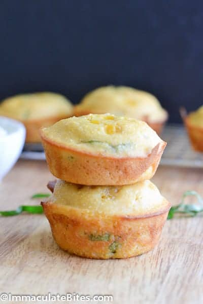Delicious corn muffin stacked together