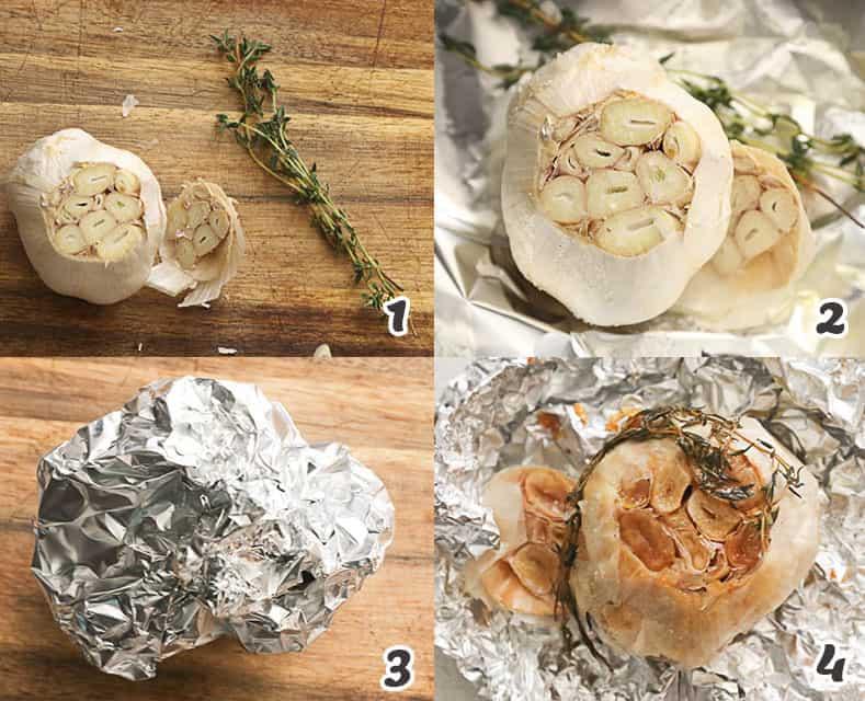 Roasting the garlic