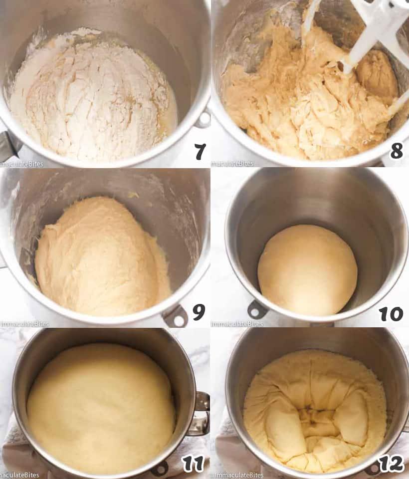 Making the bread dough