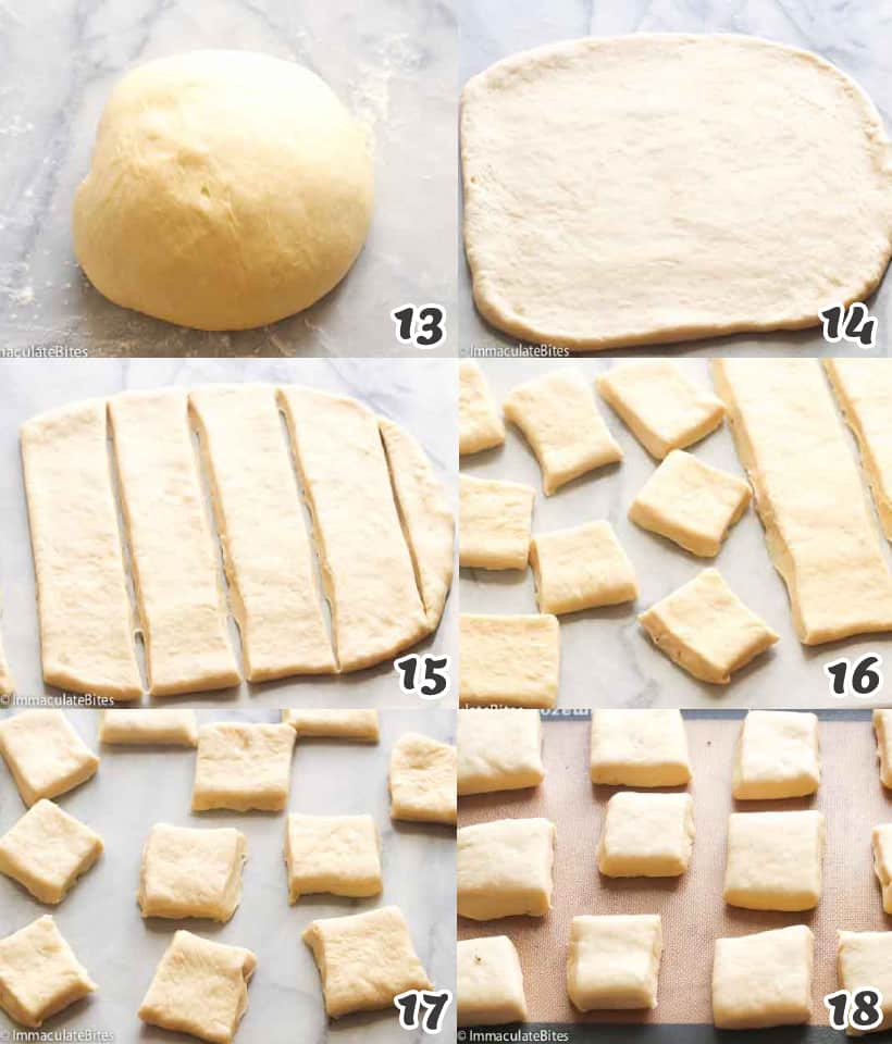 Shaping the bread dough