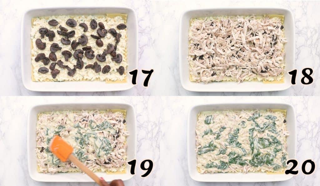 Chicken Lasagna Steps 17-20