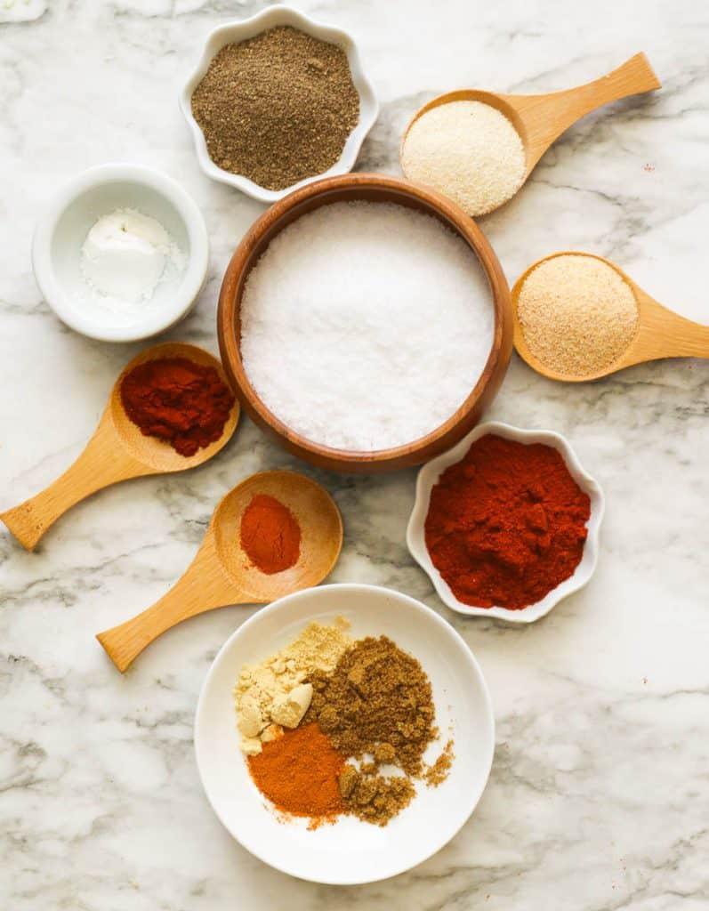 Seasoned salt ingredients