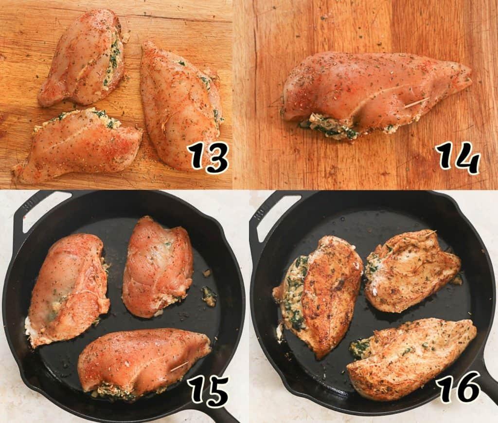 Spinach Chicken Breasts 13-16