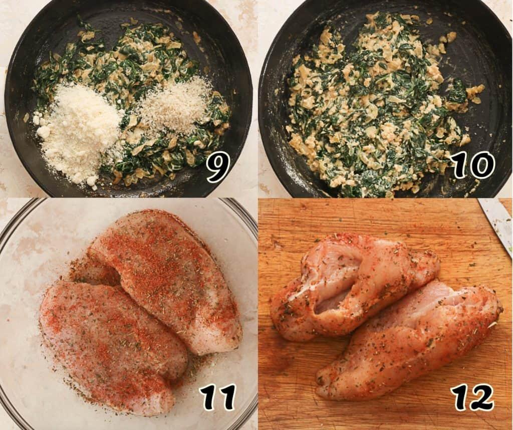 Spinach Stuffed Chicken Breasts 9-12