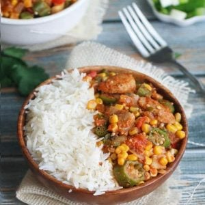 Creole Chicken Okra with Rice