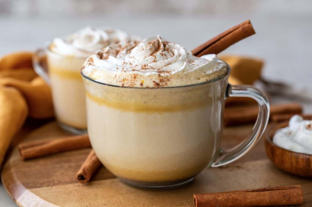 Pumpkin Spiced Latte with whipped cream