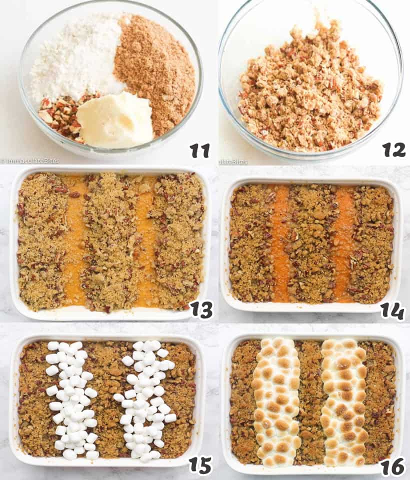 Putting the streusel on top
