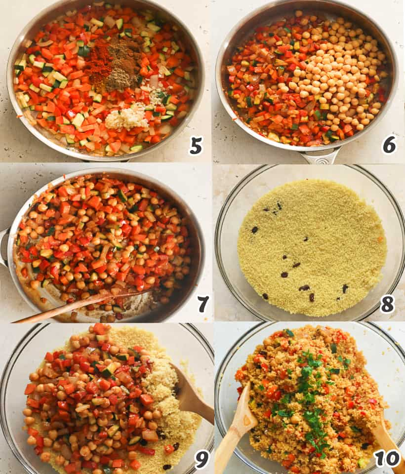 Mixing the Moroccan Couscous