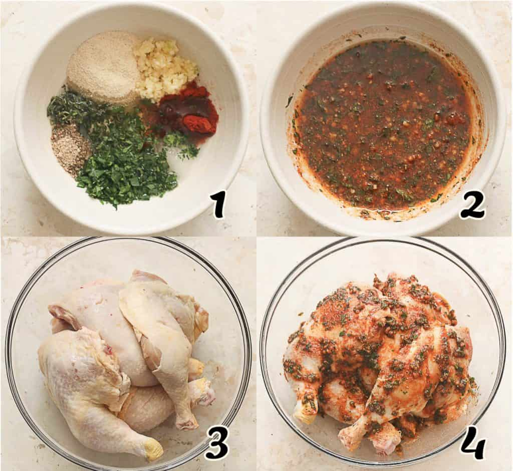 Baked Chicken Leg Quarters 1-4