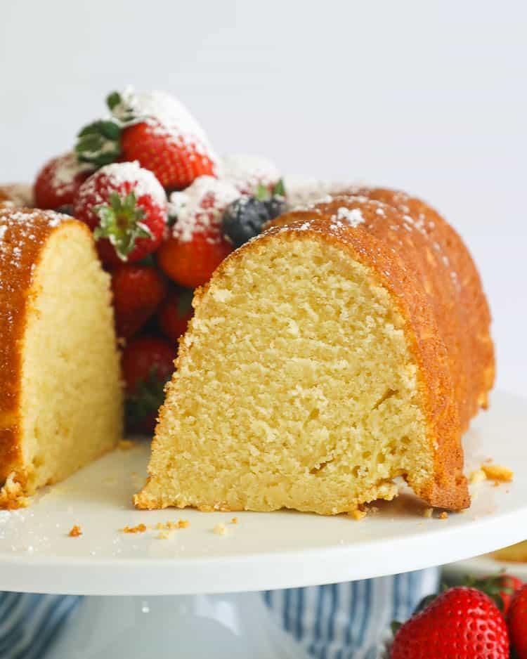 Sliced Sour Cream Pound Cake