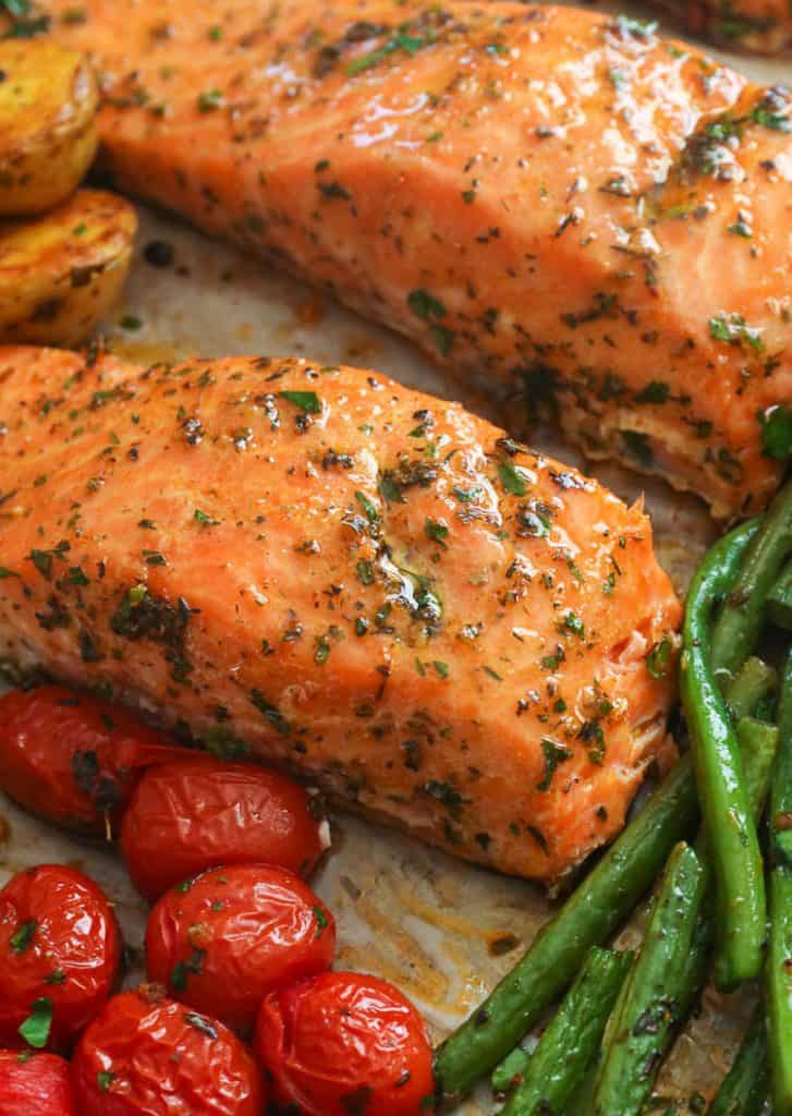 Flaky and Moist Cajun Salmon and Vegetables