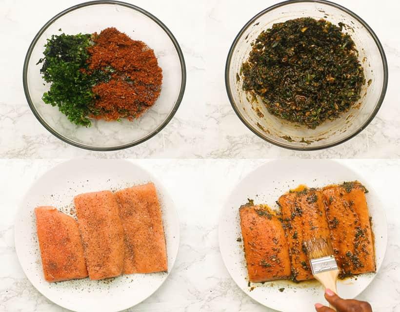 Salmon Steaks with Cajun Spice Mixture