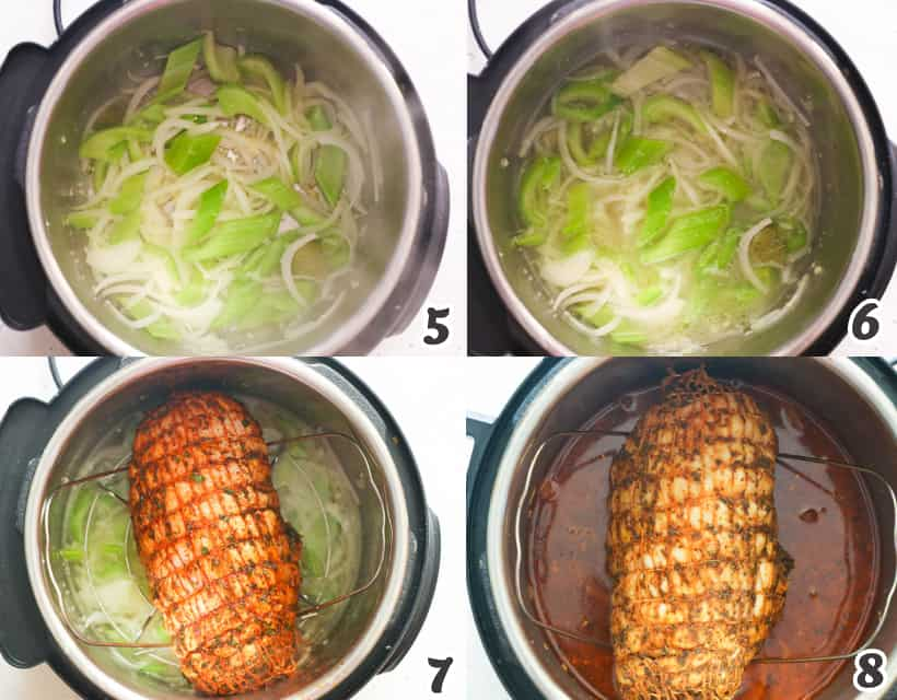 Cooking the turkey in an instant pot